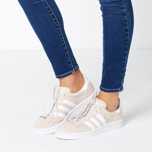 Adidas women's campus sneakers c brown
